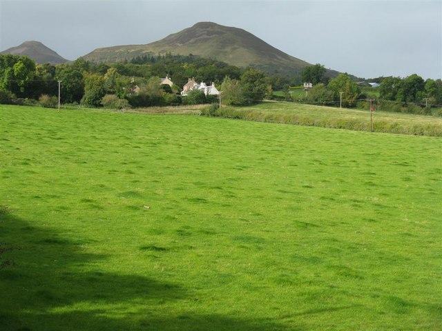 Across the fields to Eildon