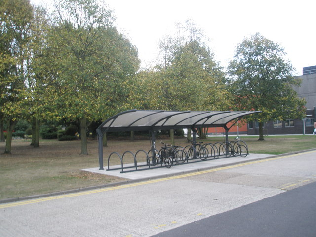Cycle rack at Brunel University
