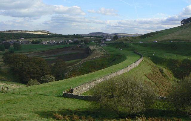 Railway embankment above Burbage