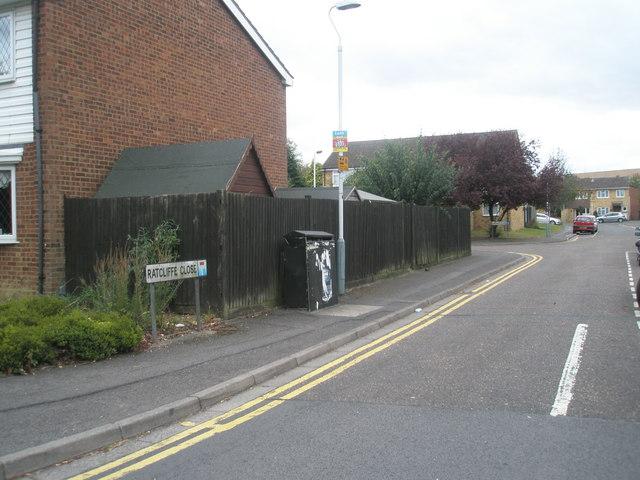 Looking along Ratcliffe Close towards Sergeant Close