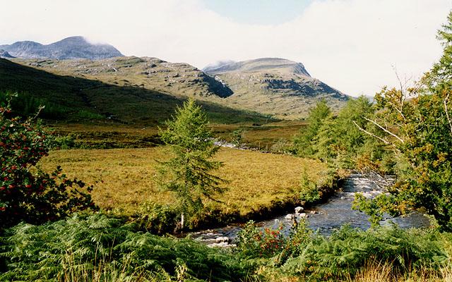 The Fionn-abhainn above Coulags