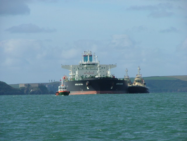 """Astro Saturn"" entering the harbour"