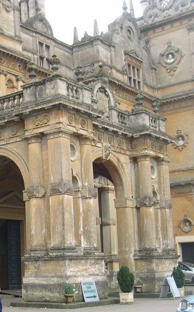 Stately entrance to Chatsworth House