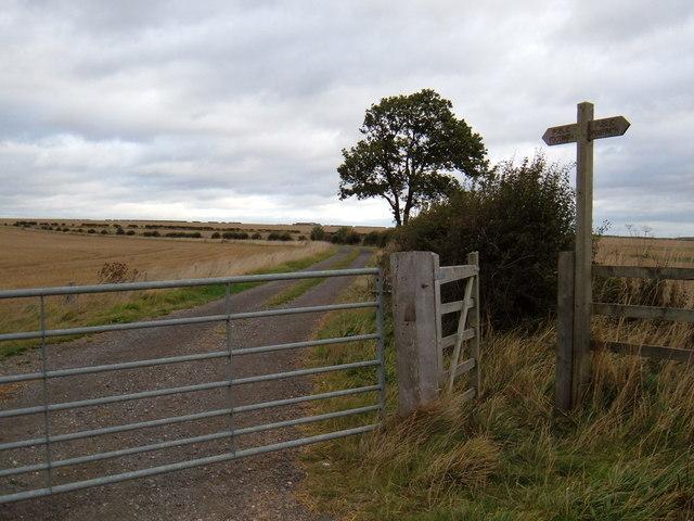 Footpath to Blanch Farm