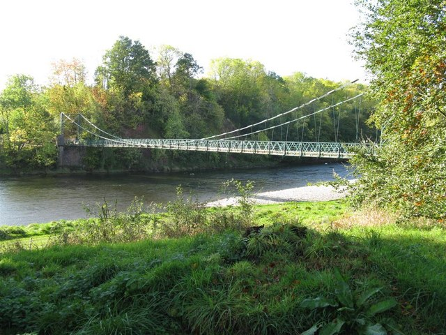 Bridge over the River Tweed at Dryburgh