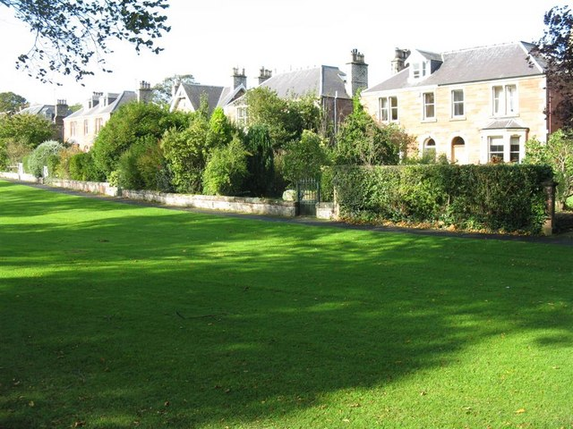 Houses on the green at St Boswells