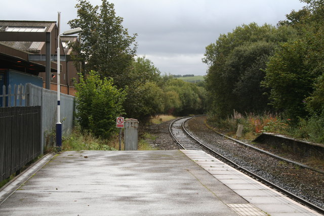 Looking south-east from Milnrow Station