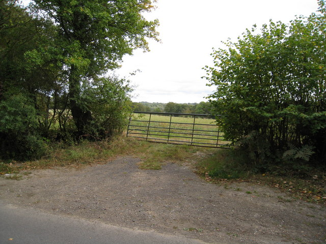 Bent farm gate