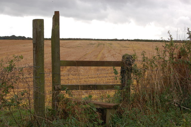Stile near Noxon Farm on a stormy October day