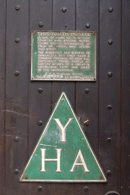 YHA sign at St Briavels Castle