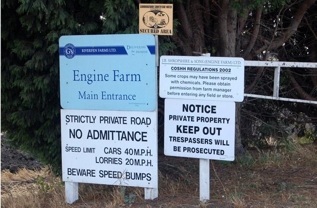 Engine Farm near Shippea Hill - keep out!