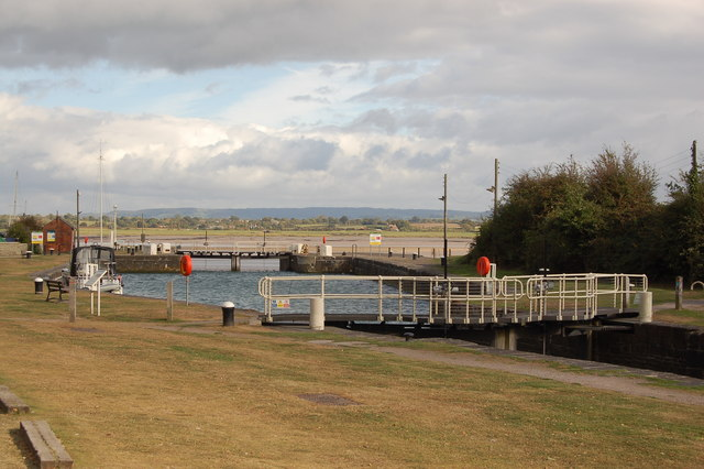 Lock at Lydney harbour
