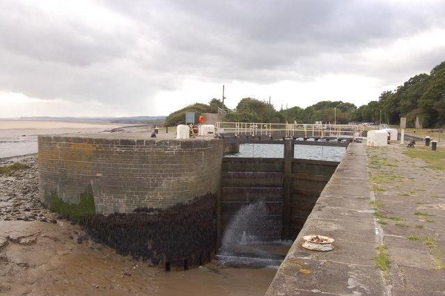 The entrance to Lydney docks