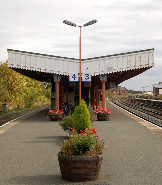Platform awning at Leamington Spa railway station