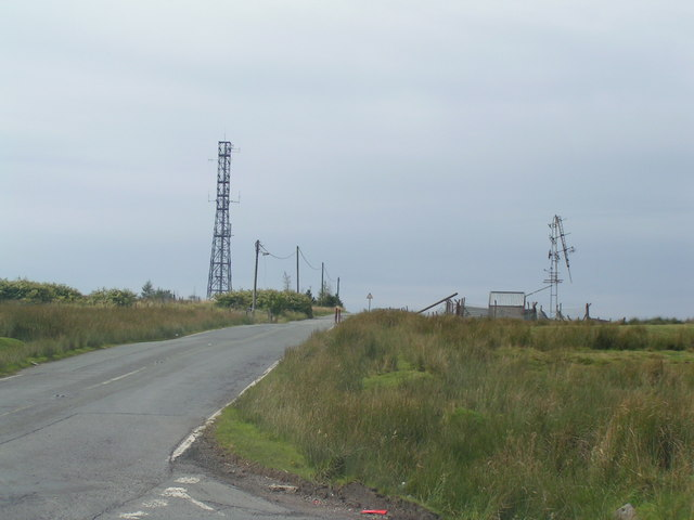 Masts on Manmoel common