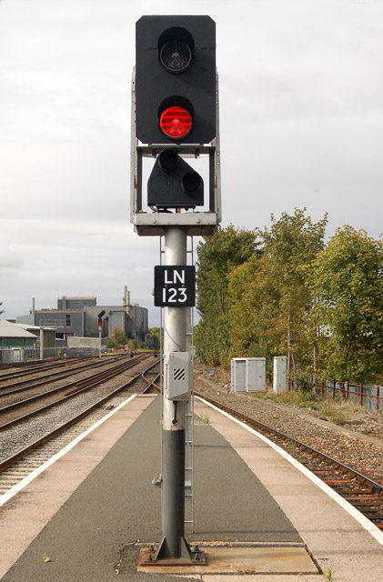 Signal at Leamington Spa railway station