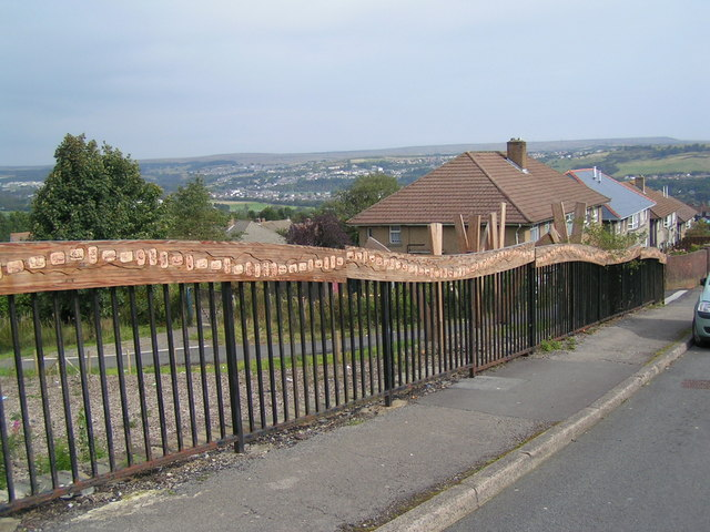 Wood carved railings