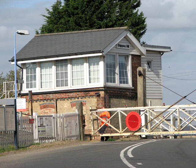 Signal box at Shippea Hill railway station