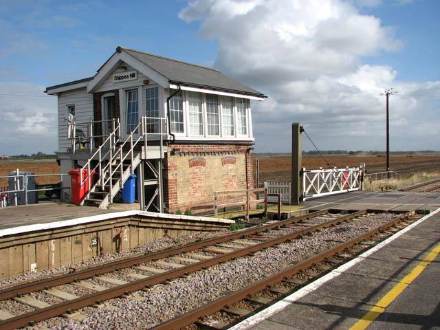 Signal box at Shippea Hill railway station