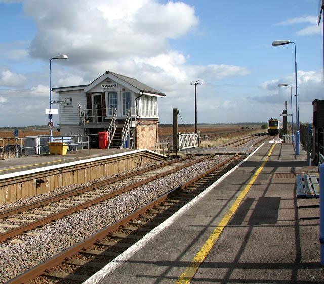 Train approaching Shippea Hill station