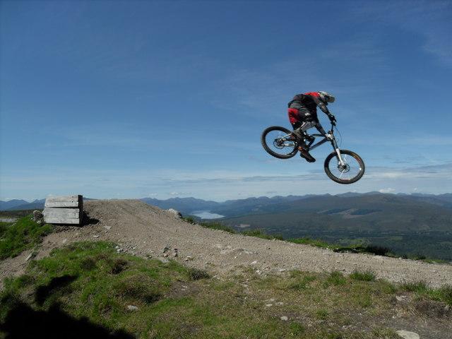 High flier on Mountain Bike Track