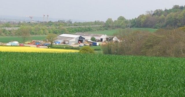 Fishpond Farm seen from the Wealdway