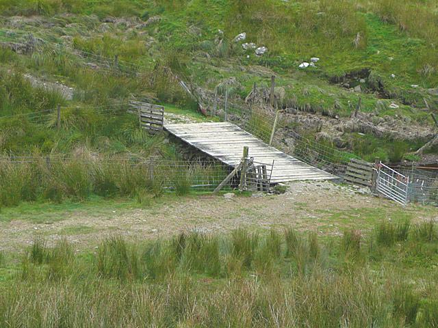 Bridge across Nant Irfon  by Drum Nantygorlan, Powys