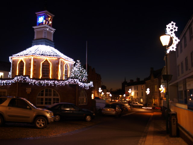 Tourist Information Office and Brampton at Christmas