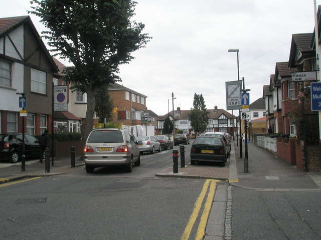 Looking southwards down Herbert Road