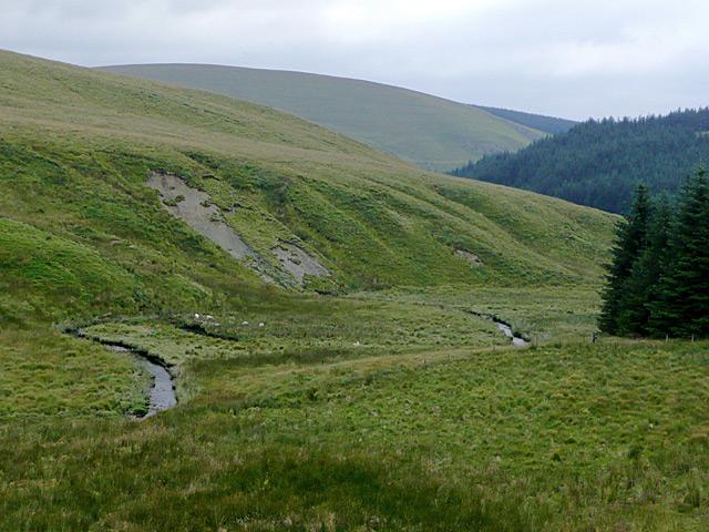 Cwm Irfon by Esgair yr Adar, Powys