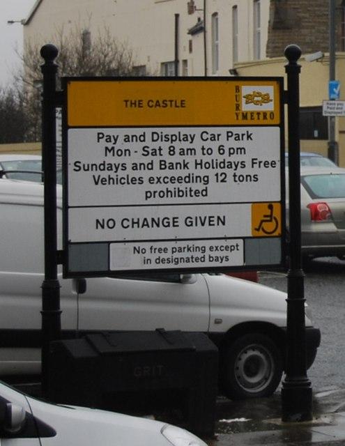 Car Park Information, The Castle, Bolton St