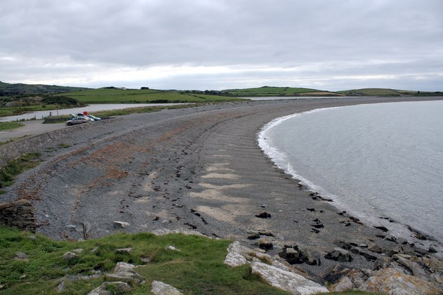 The beach at Cemlyn Bay, Anglesey