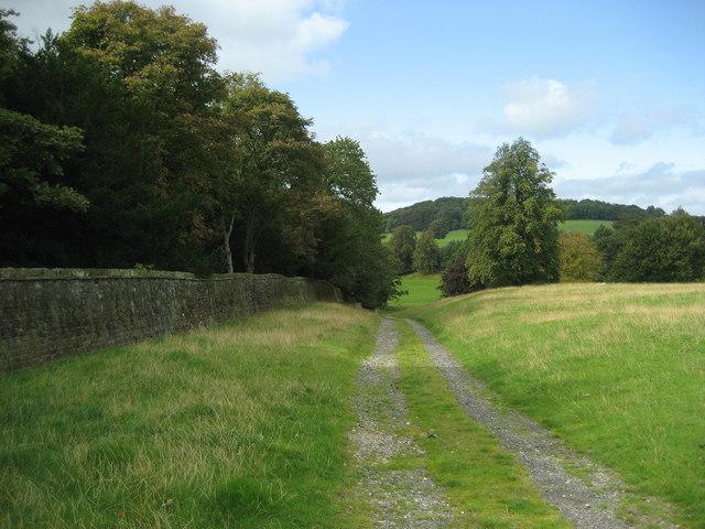 Track beside Broughton Hall Boundary