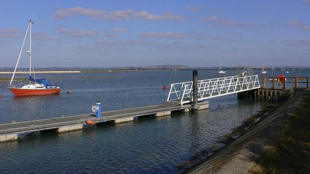 Bridge and pontoon at Hayling Island