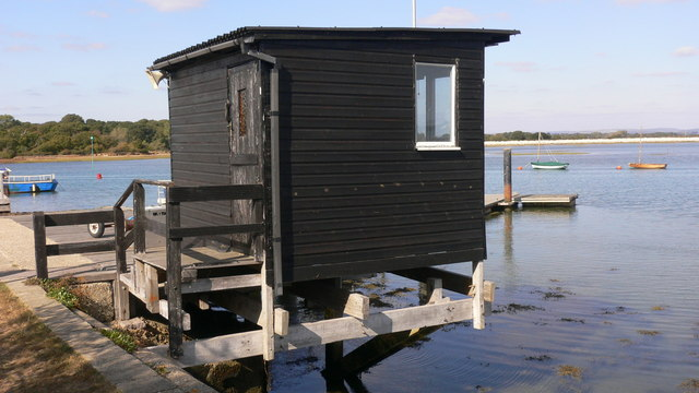 Hut at Mengham Rythe Sailing Club