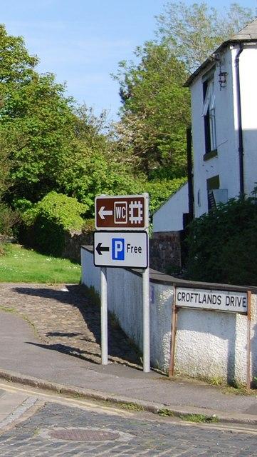 Tourist information signs, Croftlands Drive, Ravenglass