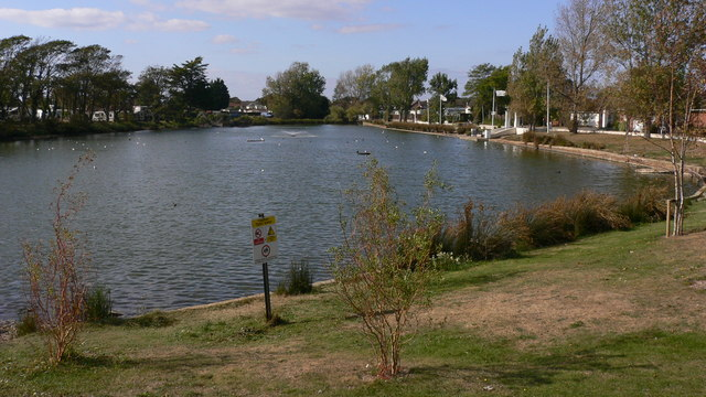 The lake by Lakeside Holiday Village on Hayling Island