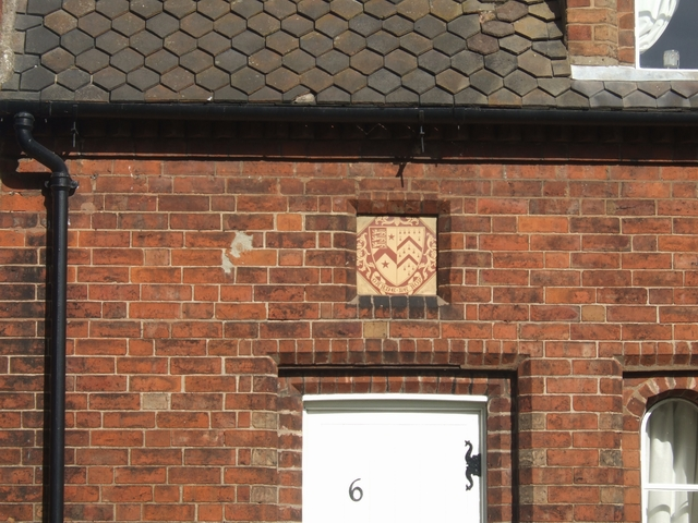 Lane armorial on the Manor Road Almshouses