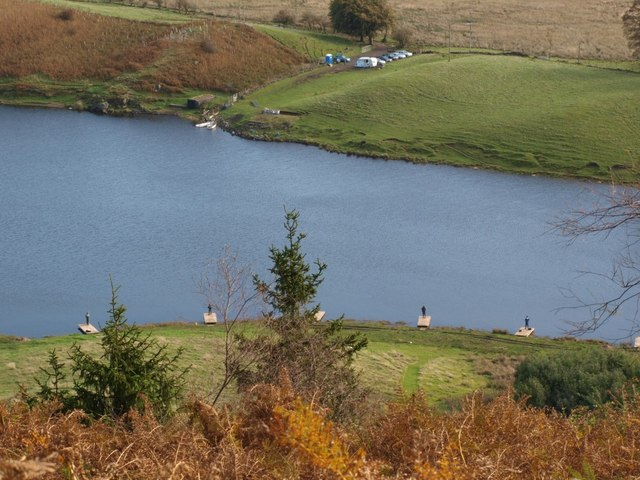 Neilston Trout Fishery from above