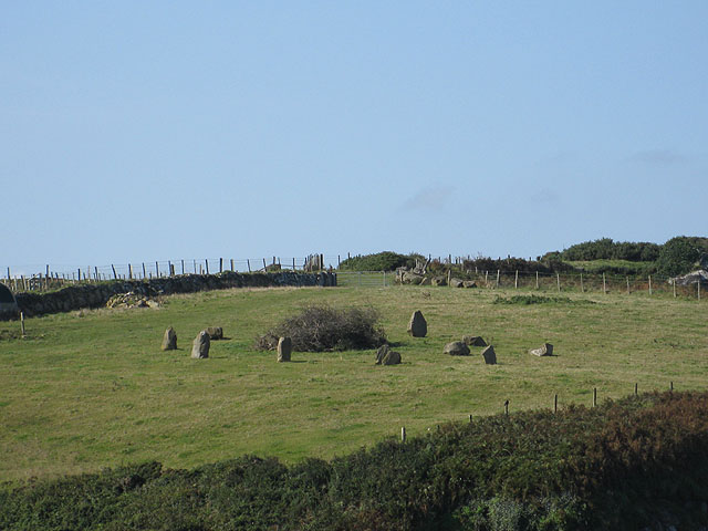 Stone circle which is not prehistoric