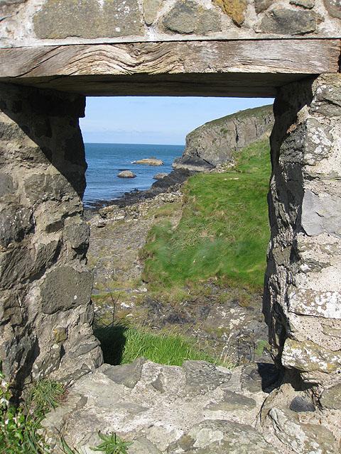 Through the rectangular window