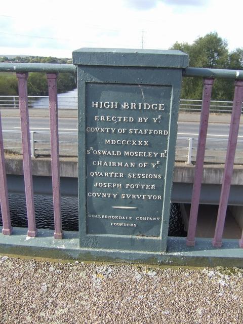 Plaque on High Bridge