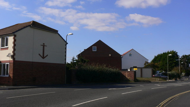 House and anchor on Southwood Road