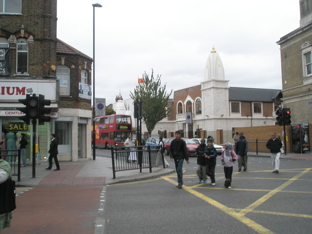 Looking across from The Broadway to Lady Margaret Road