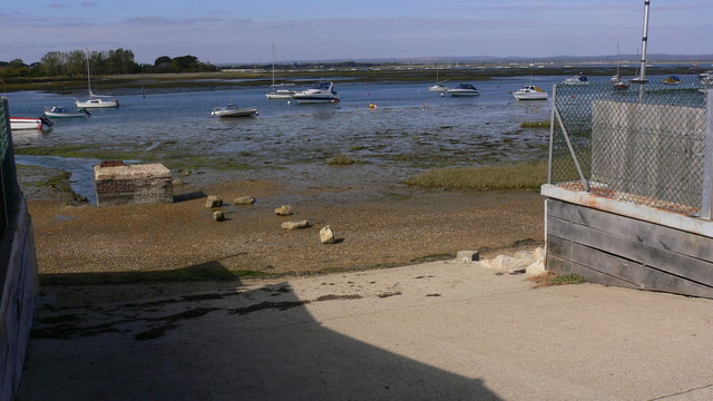 Slipway onto beach from Eastoke Avenue
