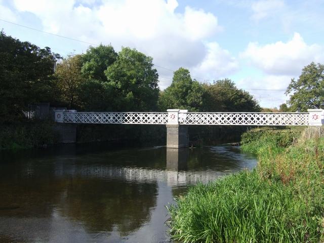 Footbridge over the River Trent
