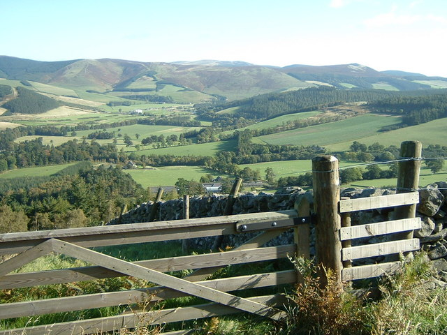 Kailzie and the Tweed Valley from the Drove Road