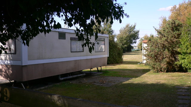 One of the small caravan parks on Eastoke Avenue
