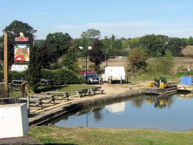 The Beer Garden, Grove Lock Public House, Near Leighton Buzzard