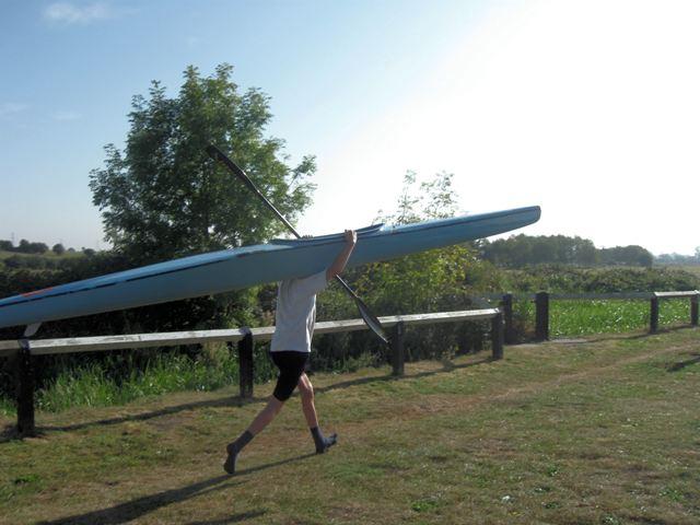 Passing Lock No 28 –  Two Kayaks (3) – On the run